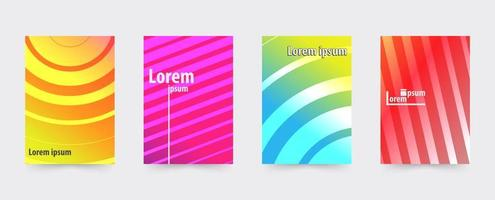Brochure gradient cover template set vector