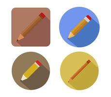 Icono de lápiz sobre un fondo blanco. vector