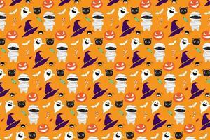 Halloween mönster bakgrund