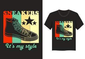 Sneakers style illustration t-shirt design