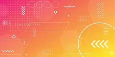 Pink orange and yellow gradient with overlapping shapes background