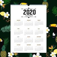 Calendrier tropical design 2020