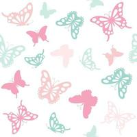 Seamless pattern background with butterflies. vector