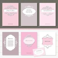 Templates set of brochures, cards, banners.