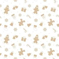 Christmas seamless pattern with gingerbread man.