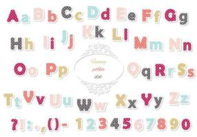 Cute polka dot colored font for kids.