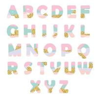 Modern abstract lettertype met glitter