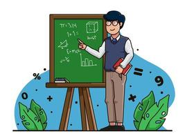 teachers day character illustration