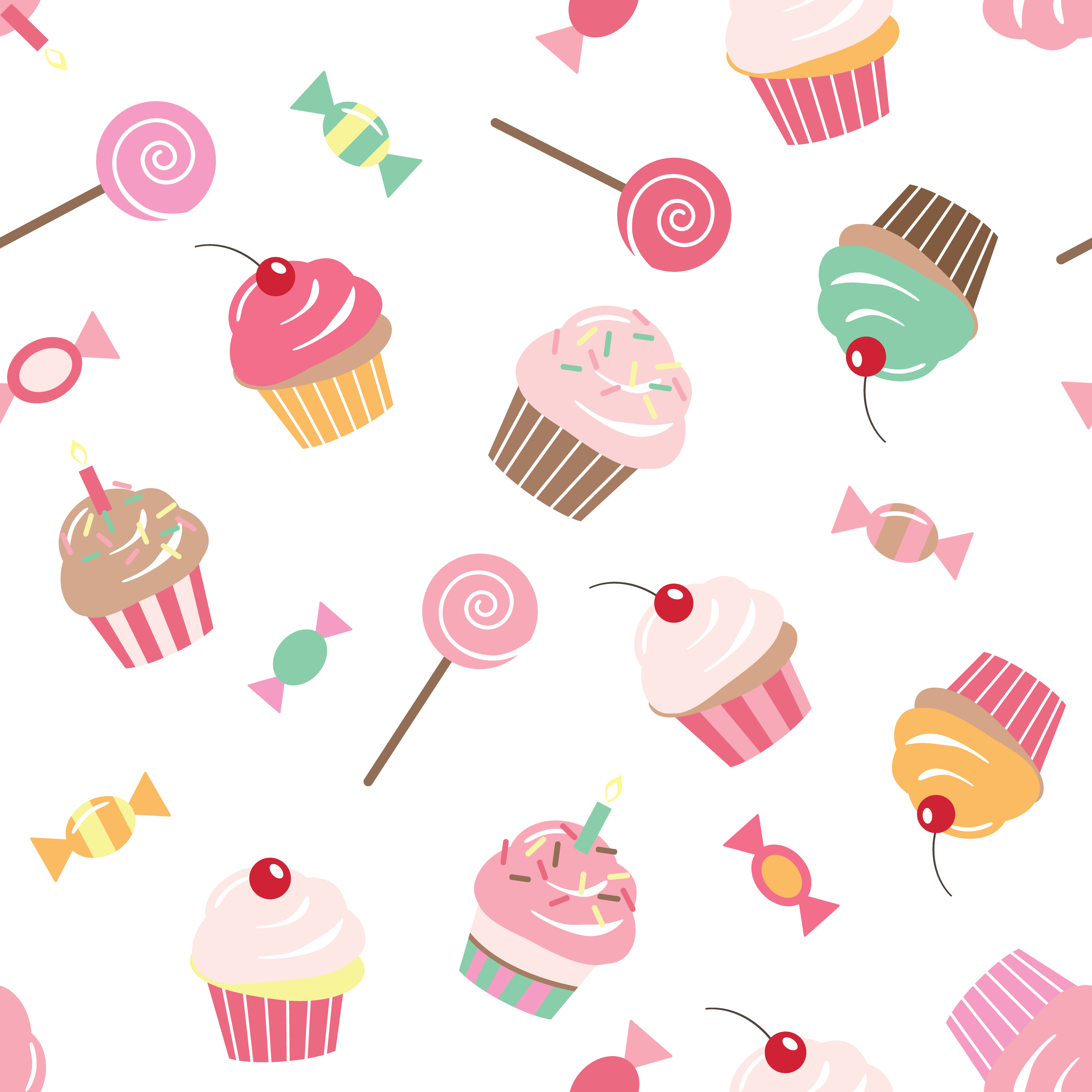 birthday seamless pattern background with cupcakes download free vectors clipart graphics vector art vecteezy