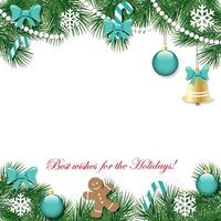 Christmas and New Year decorative background. vector