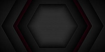 Black abstract overlapping hexagon shape design