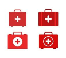 Set of medical suitcase icons