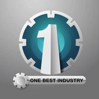 Industrial number one gear design vector