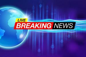 Live breaking news report banner  vector