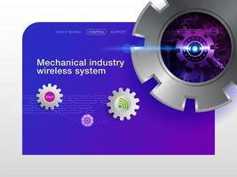 Abstract mechanical industry concept  vector