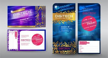 Set of event brochures and cards vector