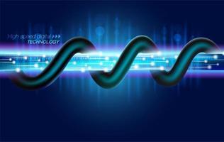 Tecnologia digitale a fibra ottica ad alta velocità