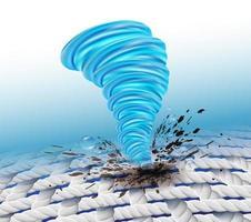 Tornado-fläckborttagningsbegrepp
