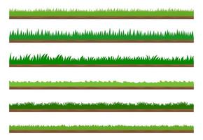 Collection of green grass border set