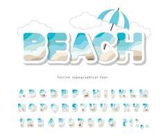 Modern seaside landscape font.