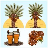 Date Palm Tree in the Desert vector