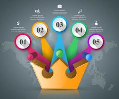 Crown icon. Business abstract Infographics. vector