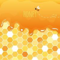 Sweet honey glossy background with copy space