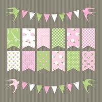 Scrapbook design elements set of bunting flags.