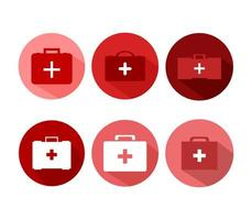Medical suitcases icons  vector