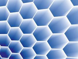 Honeycomb concept background on vector graphic art.