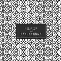 Modern geometrisch zwart-wit bloemenpatroon