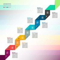 Modern ontwerpsjabloongebruik voor infographics, banner, etiketten.