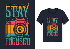 stay focused camera illustration