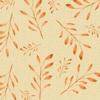 Motif de branche aquarelle orange