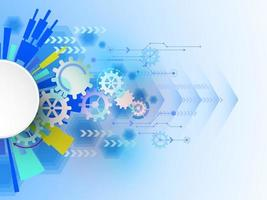 Vector abstract background shows the innovation of technology