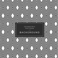 Black and white diamond shape pattern vector