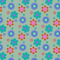 bright floral shape pattern