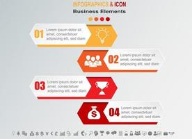 Infographic business timeline with 4 banners