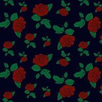 elegant blommig rosmönster