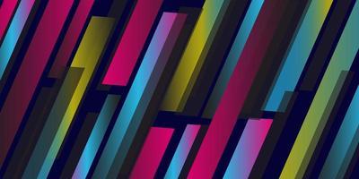 Färgglada geometriska linjemönster