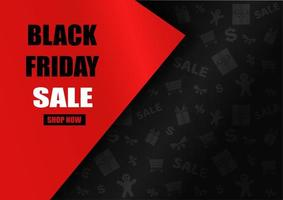 Black Friday Sale design with red triangle vector