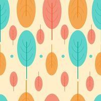 Modello di foglie colorate con forme moderne