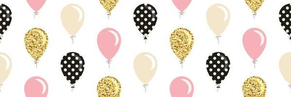 Balloons seamless pattern background.