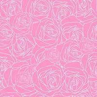 Modèle dessiné à la main rose rose