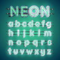 Realistisch leuchtendes Doppel-Neon-Zeichen an und aus