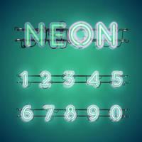 Accensione e spegnimento di caratteri al neon doppi luminosi realistici