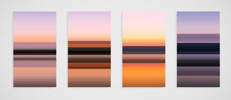Kleurrijke reeks van vier lijnpatroon, vectorillustratie