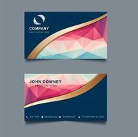Moderne kreative Visitenkarte-Schablone Doppeltes versah mit Seiten.