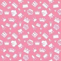 Cute seamless pattern with crowns