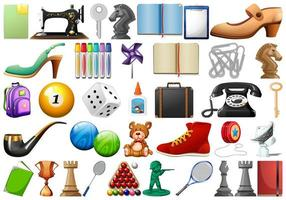 Set of random objects vector